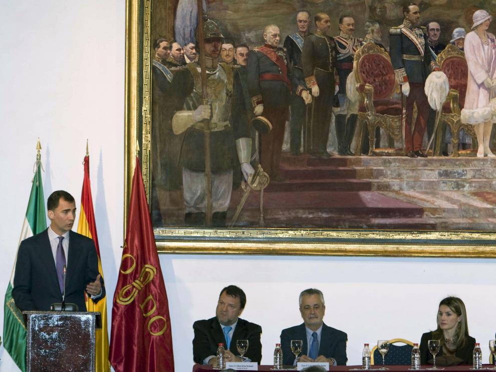 El Príncipe presentó ante las instituciones y la sociedad andaluza la Fundación Príncipe de Girona.