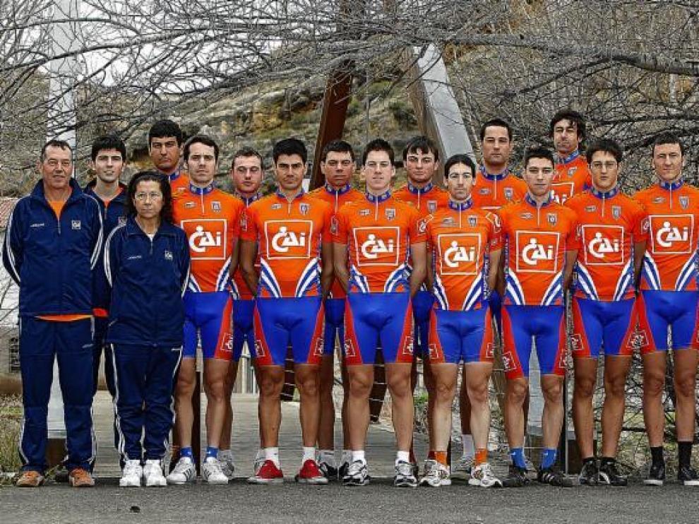 Formación del CAI-Club Ciclista Aragonés para esta temporada.