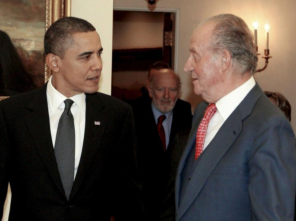 Obama recibió al monarca español
