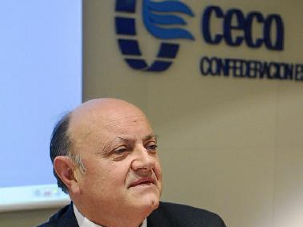 Juan Ramón Quintás, presidente de la CECA, ayer.