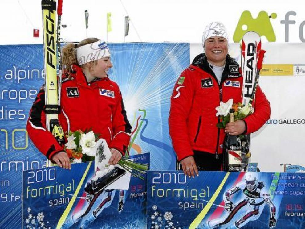 De izquierda a derecha, Mariella Volglresiter, Margret Altacher y la suiza Marianne Abderhalden.