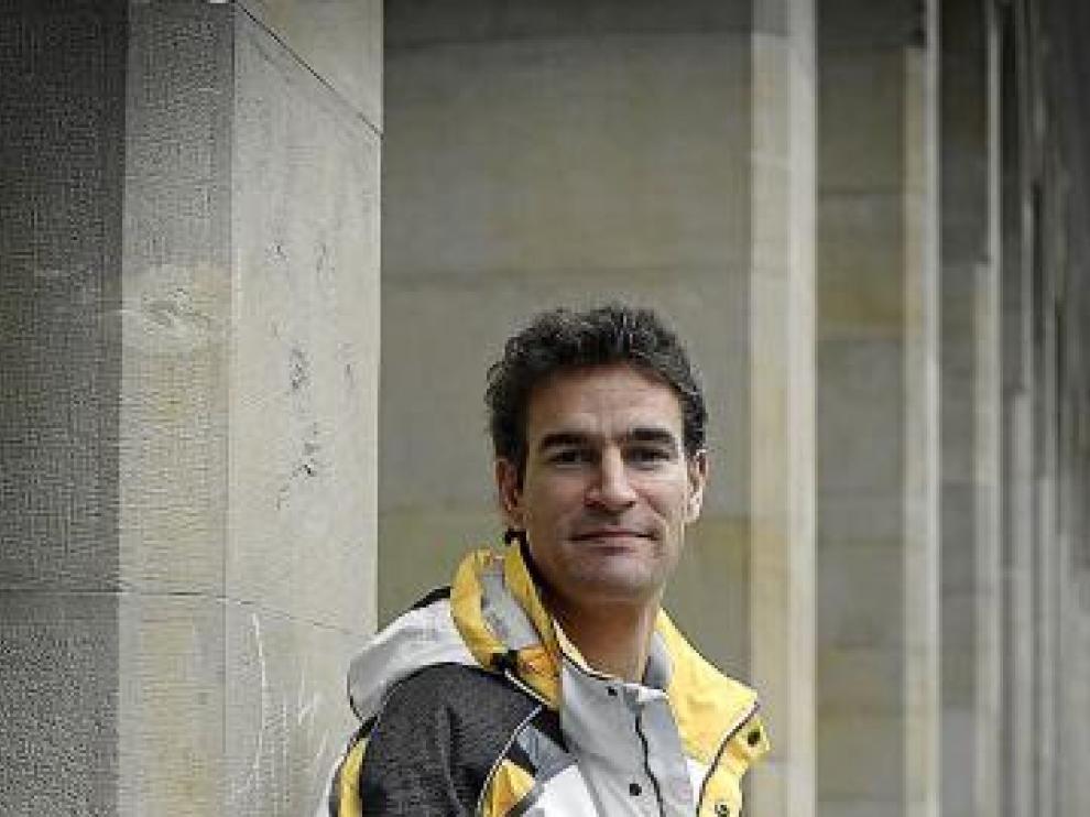 Fernando Navas, en el paseo de la Independencia