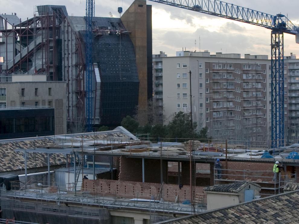 Imagen actual de las obras del Hospital Provincial.