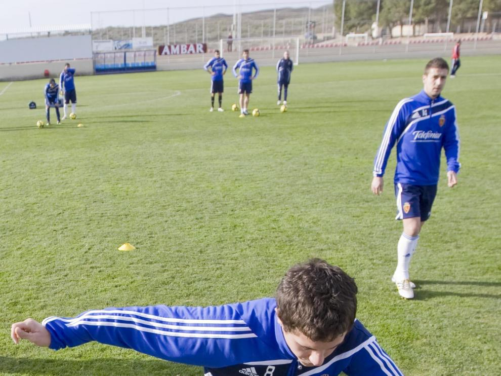 Ander Herrera, en un entrenamiento.