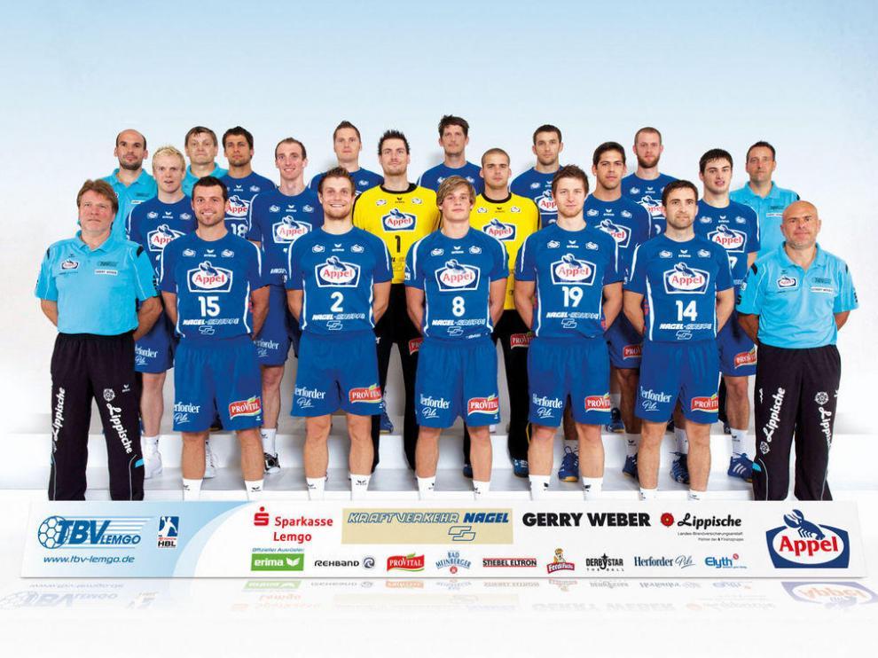 Plantilla del Lemgo alemán, rival del CAI Aragón en los cuartos de final de la Copa EHF.