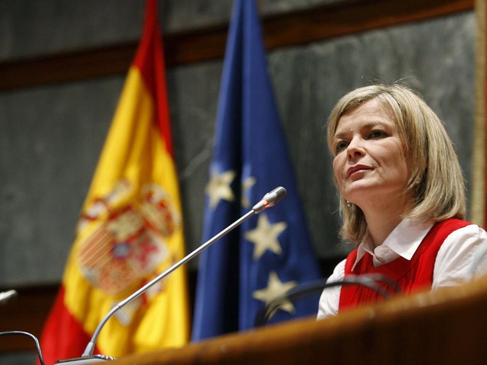 La portavoz del Consejo General del Poder Judicial, Gabriela Bravo, en su comparecencia de ayer