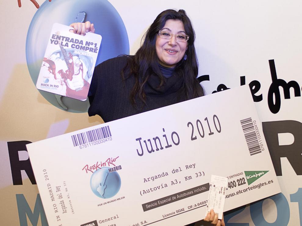 La zaragozana Mamen Grajera, la primera en adquirir una entrada para el Rock In Rio-Madrid