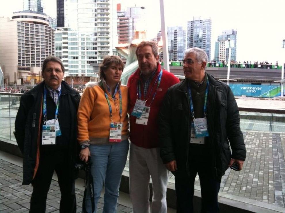 Zaragoza vive in situ pruebas olímpicas y conoce las infraestructuras de Vancouver