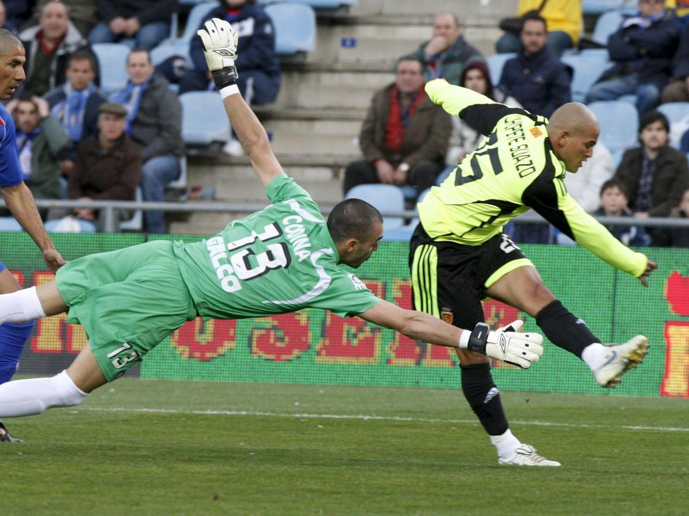 El delantero del Real Zaragoza