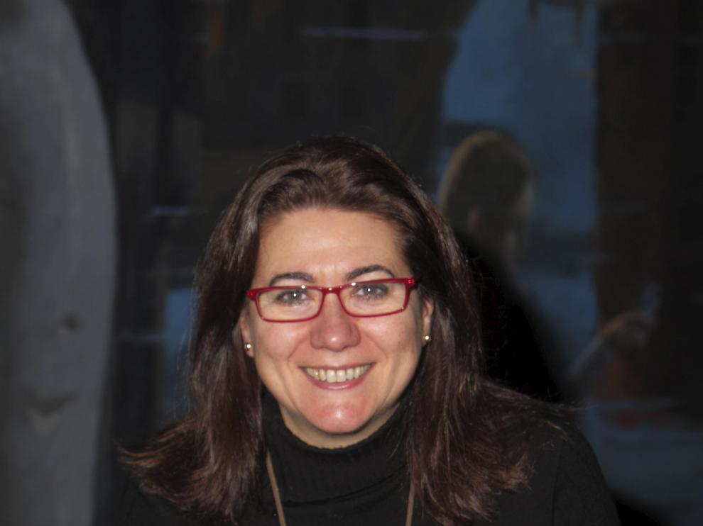 Luisa Martín, en su reciente visita a Zaragoza.