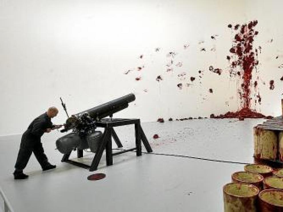 'Disparos en el rincón', una obra que ha obligado a reforzar a sala