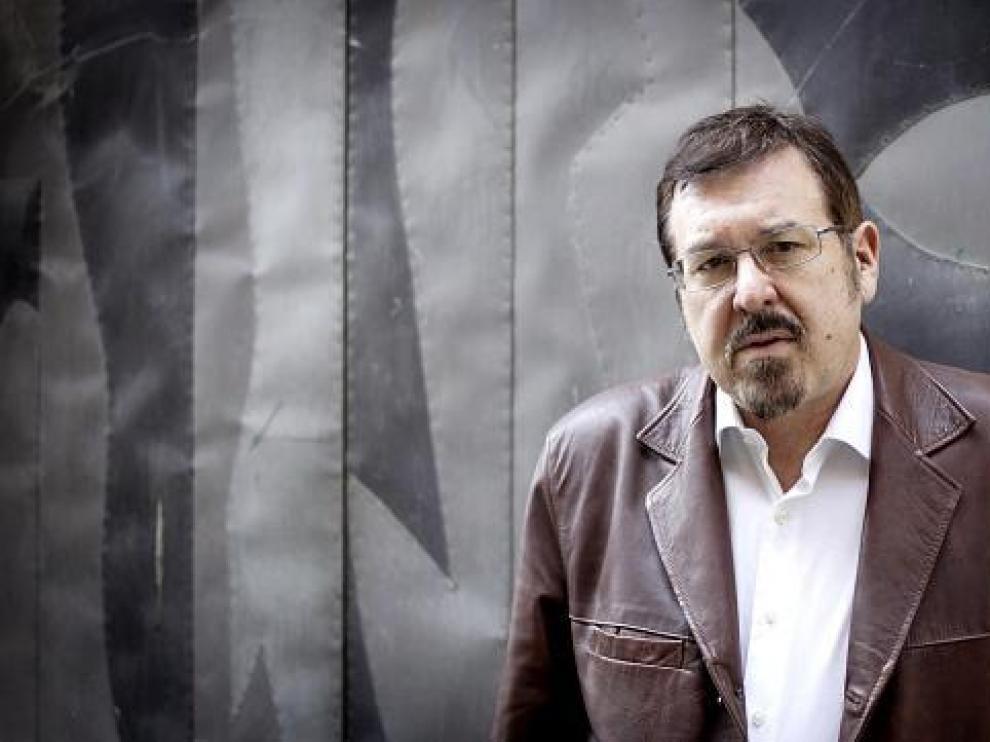 El escritor Javier Barreiro, esta semana, en Zaragoza.