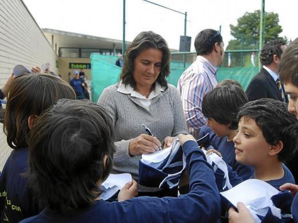 Conchita Martínez en una imagen de archivo.