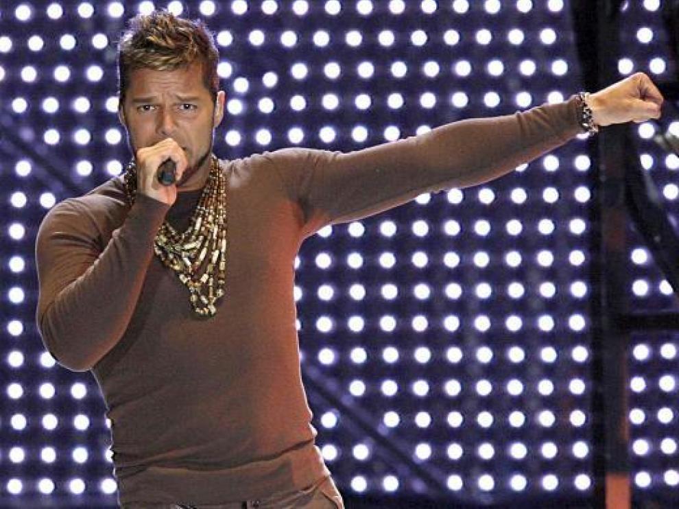 Ricky Martin, en una de sus actuaciones en España.
