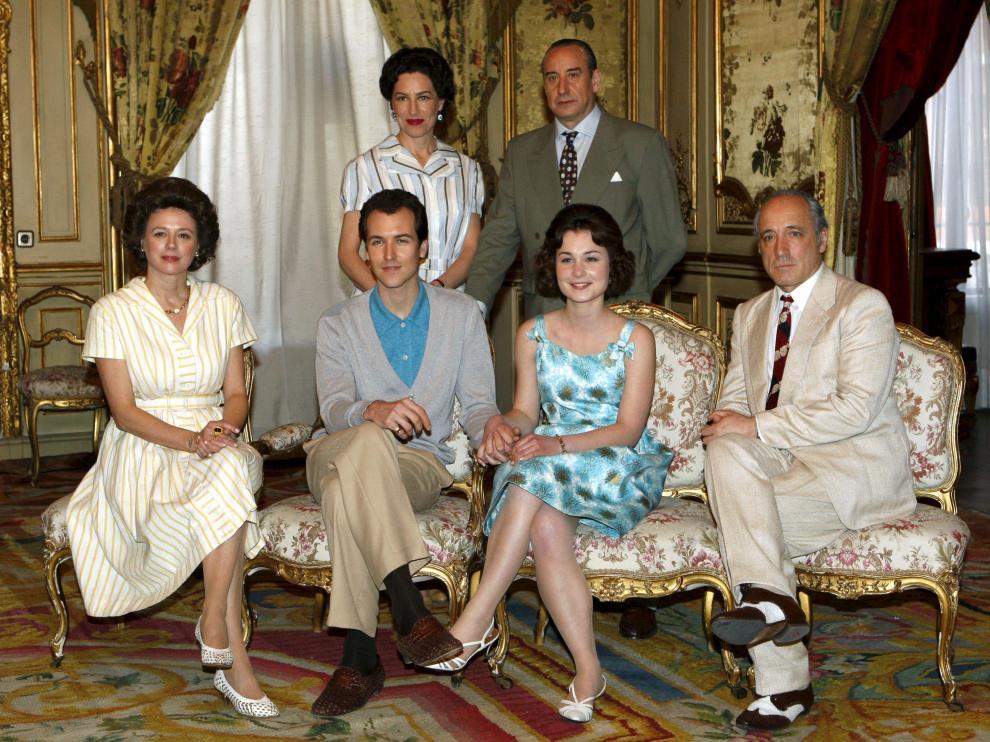 Los actores protagonistas del telefilme 'Sofía', sobre la vida de la Reina