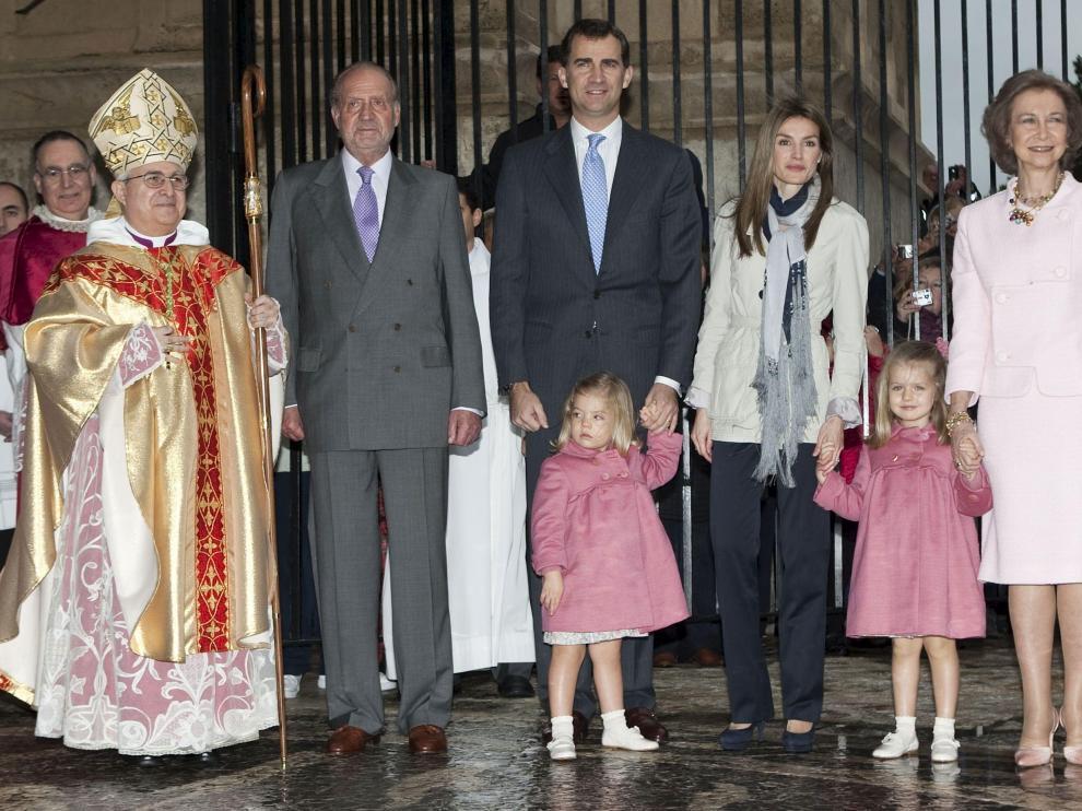 Los Reyes, los Príncipes y las Infantas en la Catedral de Palma