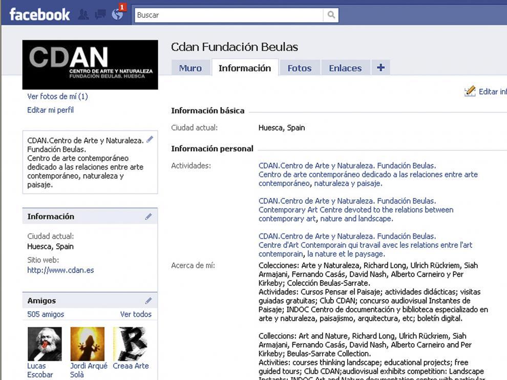 El CDAN, en Facebook