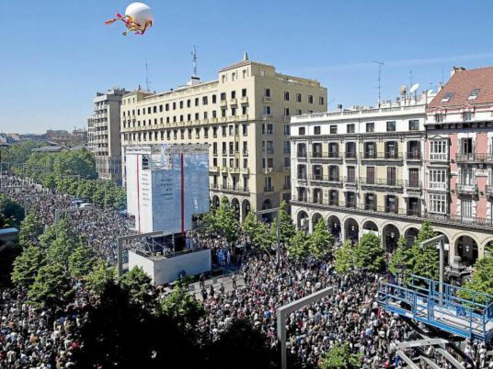 La DGA suspende el espectáculo de  San Jorge en Independencia por la crisis
