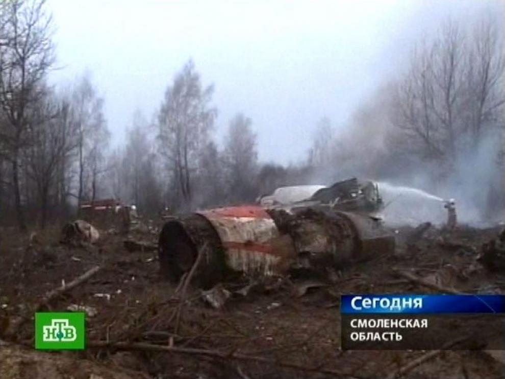 Imágenes del accidente de la televisión rusa NTV