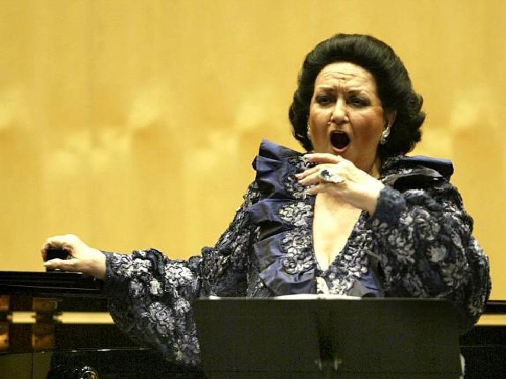 La soprano Montserrat Caballé, durante uno de sus recitales.