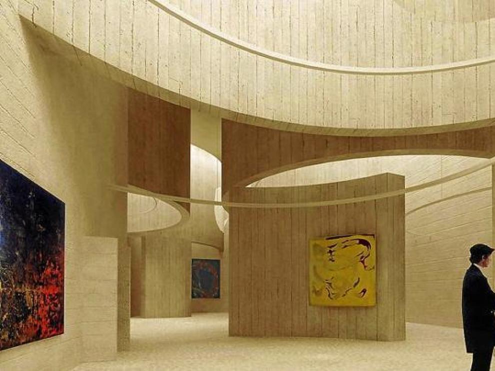 Recreación virtual de los nuevos espacios del Museo Provincial, una vez sea ampliado.