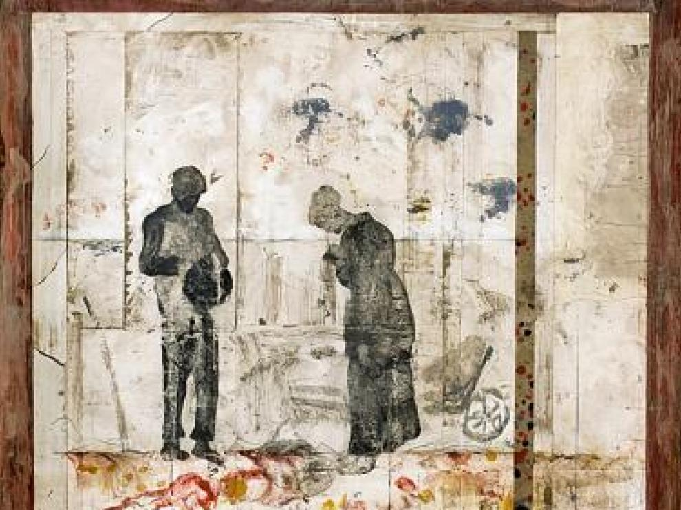 Obra de Jean Marie Brisson que se expone en Barbizon.