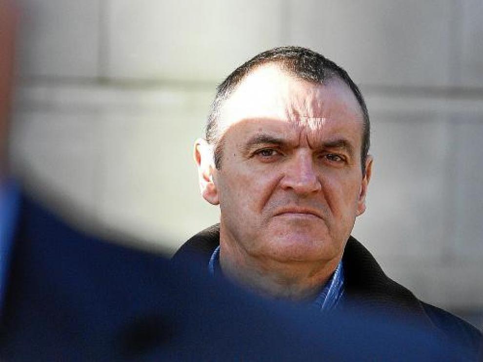 De Juana Chaos, en una de sus comparecencias ante el juez de Belfast, en noviembre de 2009.