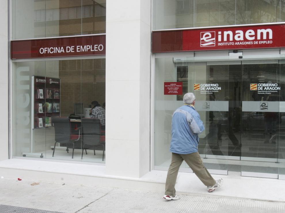 Una oficina del Inaem en Huesca