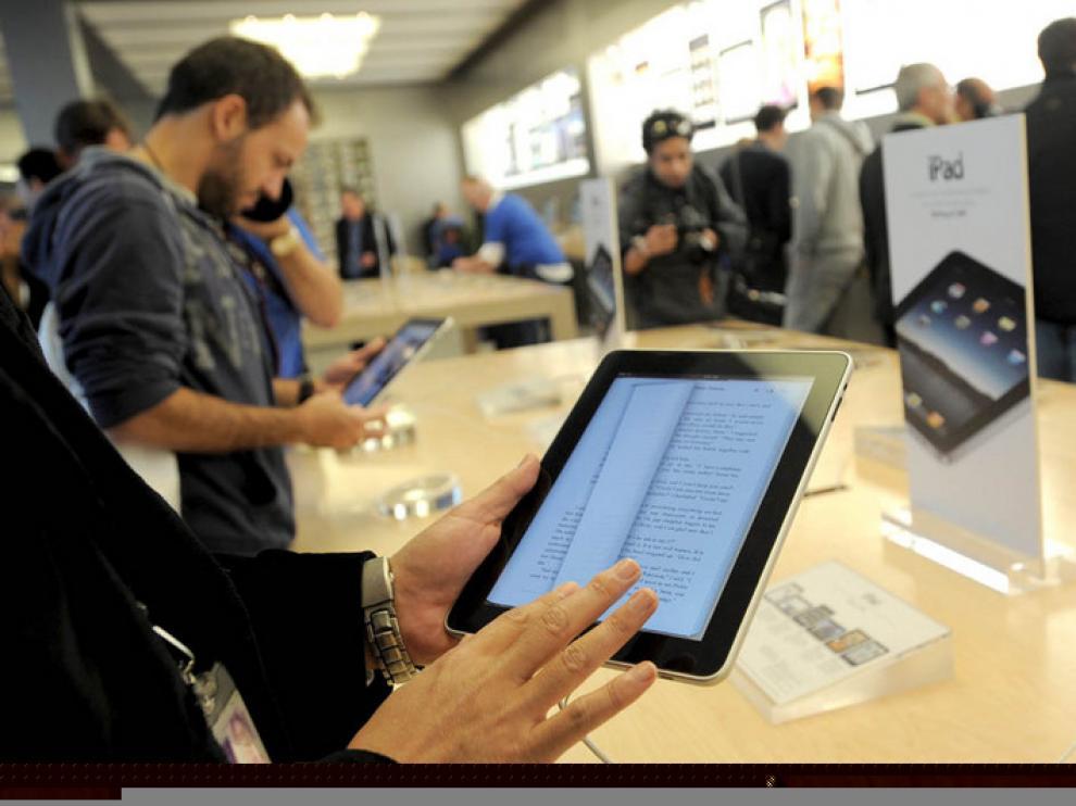 Pasando de página en un iPad de Apple
