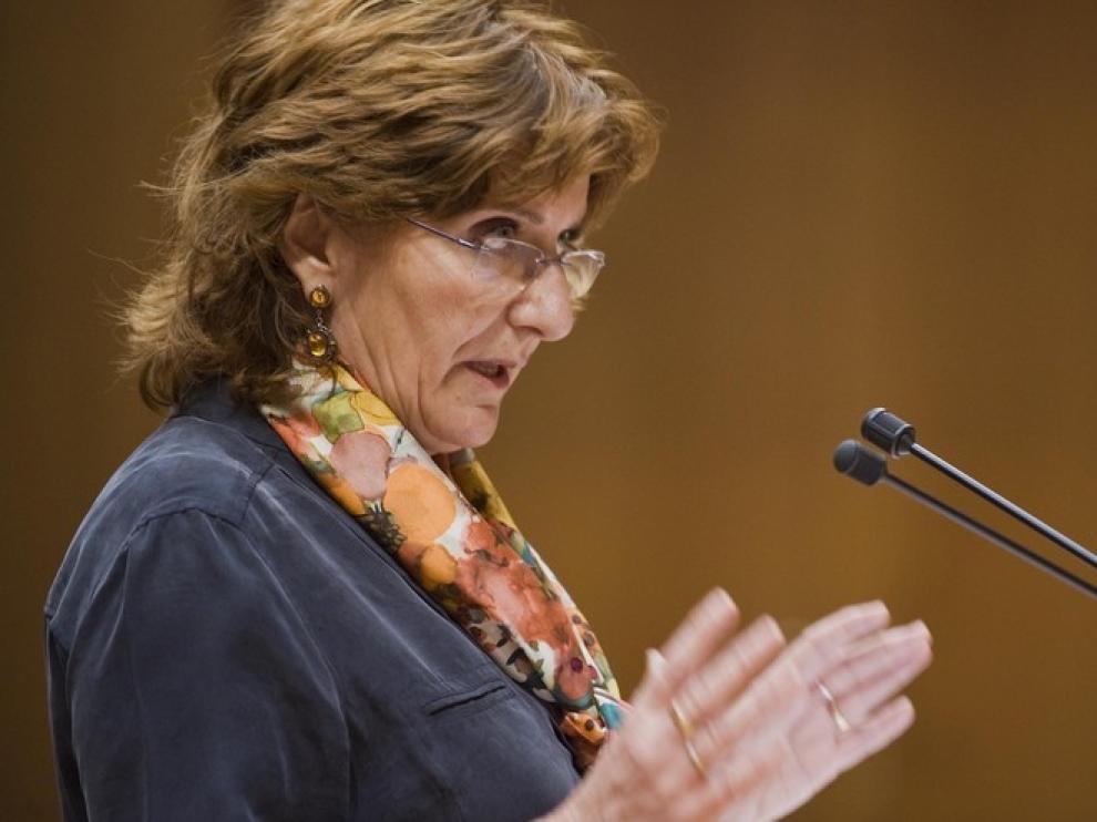La consejera de Educación del Gobierno de Aragón, María Victoria Broto