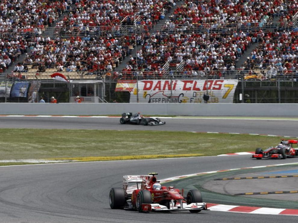 Fernando Alonso, segundo en Montmeló