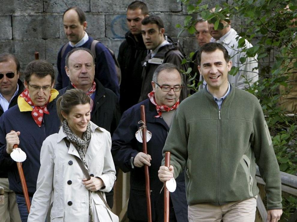 Los Príncipes hacen una etapa del Camino de Santiago