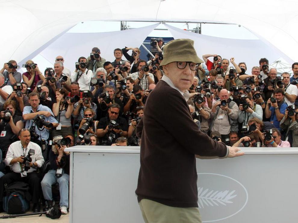 Woody Allen ante los periodistas en Cannes