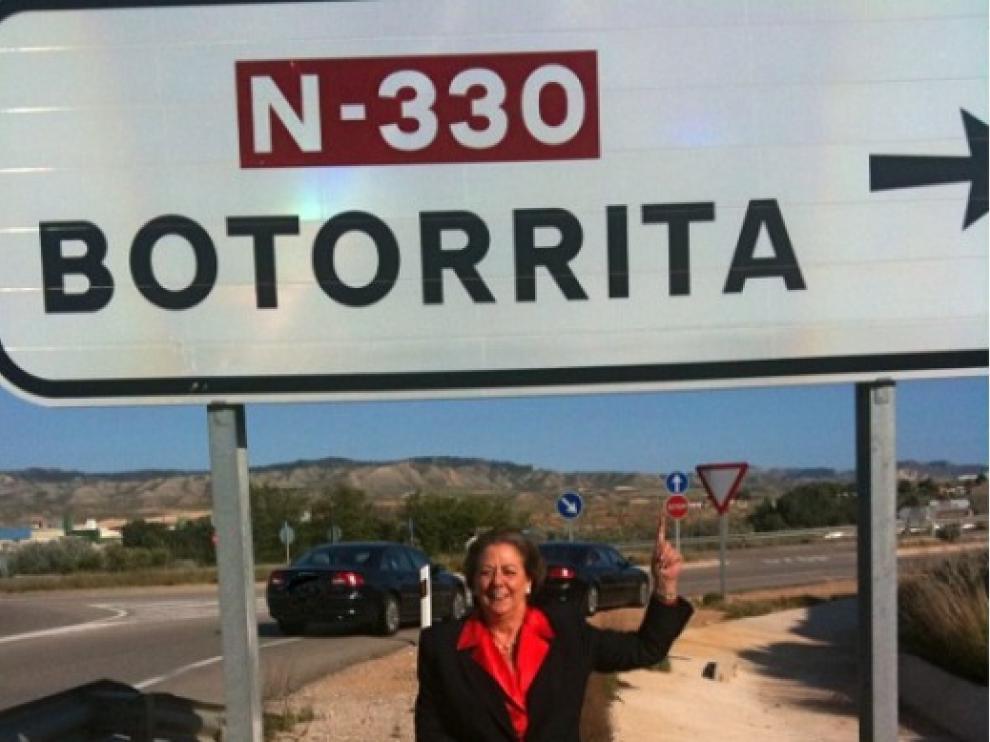 Rita Barberá pidió el voto desde la localidad zaragozana de Botorrita.