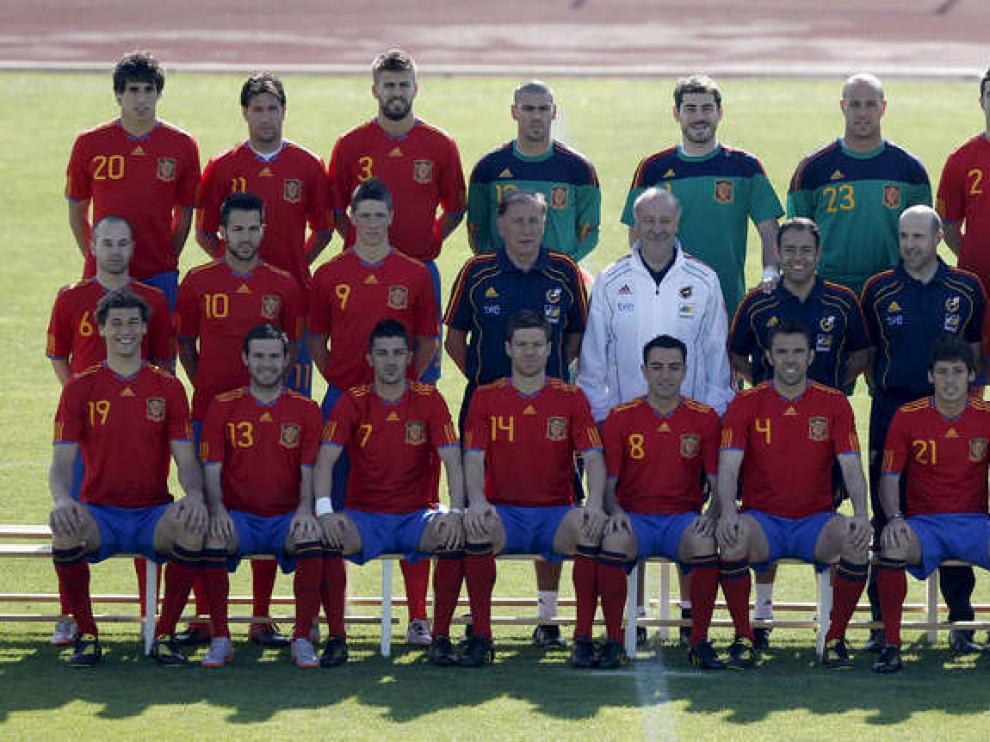 Foto oficial de la selección española de fútbol
