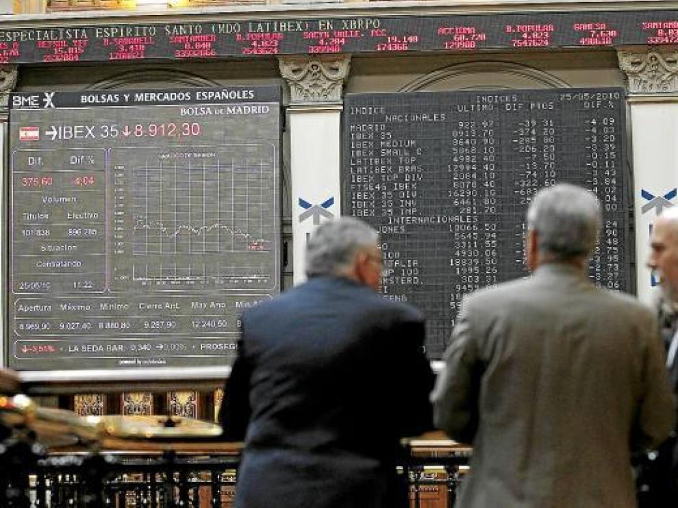 Imagen de la Bolsa esta semana que ha estado marcada por la inestabilidad de los mercados.