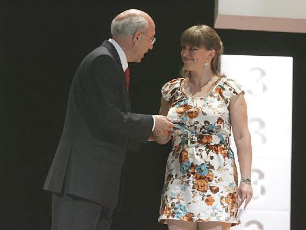 Entrega del premio Pepe Escriche a la World Cinema Fund del Festival de Berlín, en la inauguración.