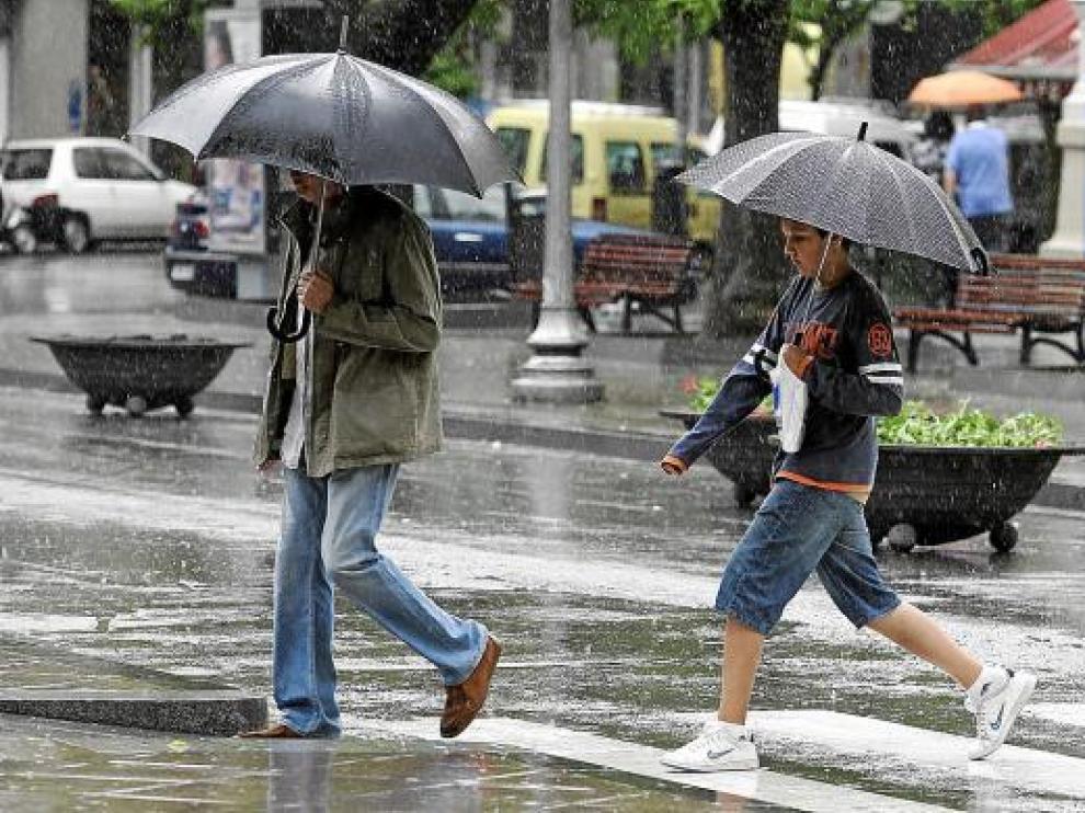 La lluvia dejó ayer en Huesca 31 litros por metro cuadrado, aunque no provocó incidencias.