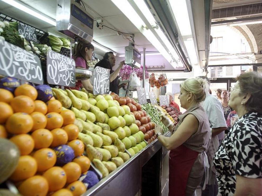 Una frutería del Mercado Central.