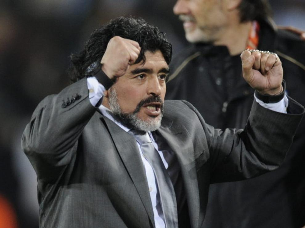 Maradona, en sus tiempos de seleccionador de Argentina