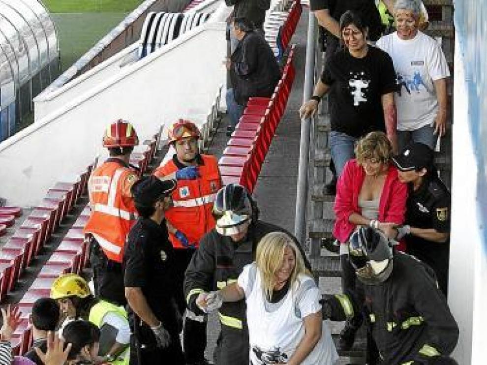 Los servicios de emergencias evacuaron a una embarazada.