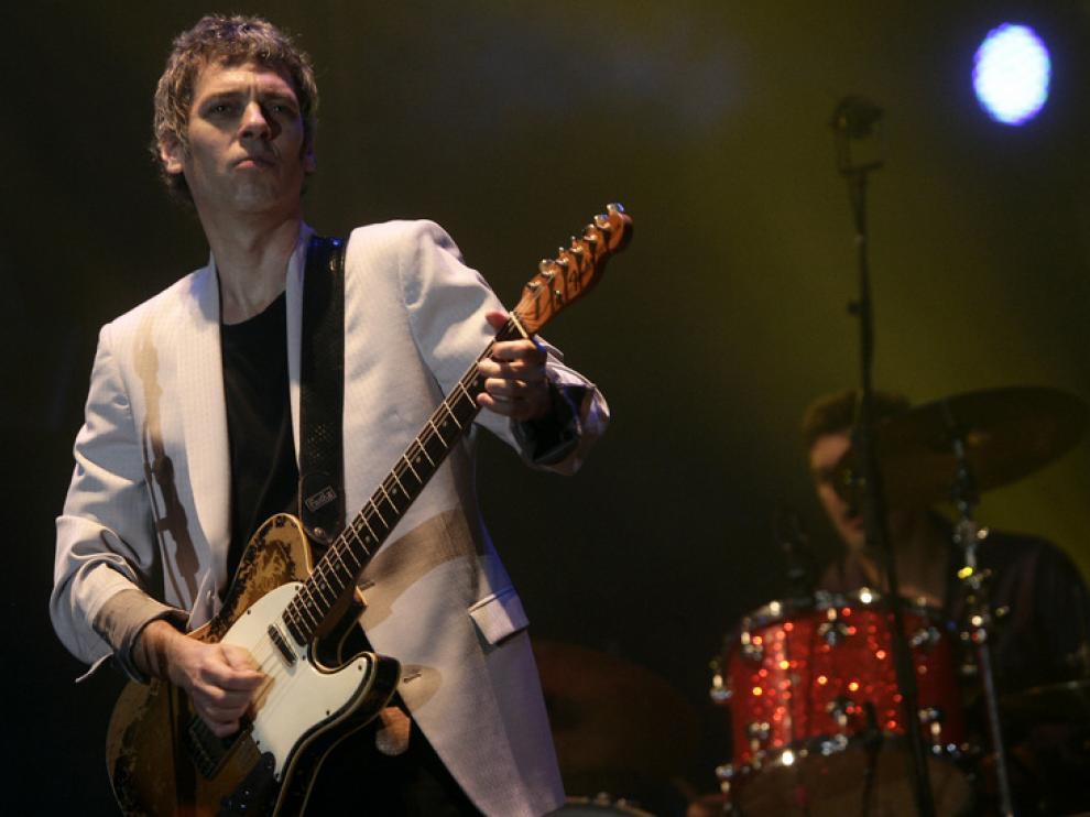 Ariel Rot, en un concierto en Zaragoza.