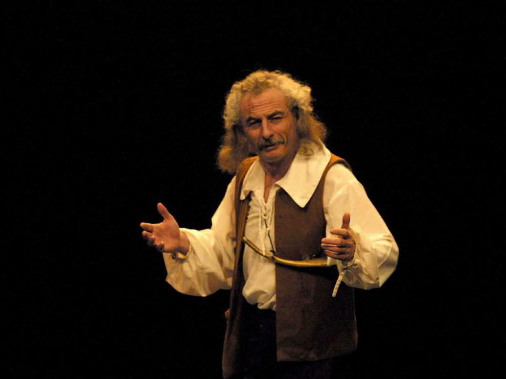 Rafael Álvarez, 'el Brujo', en su actuación en el pasado Festival Castillo de Alcañiz.