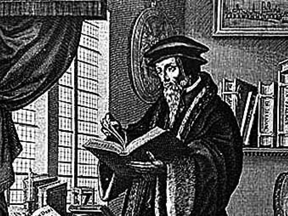 Un grabado que representa a Servet