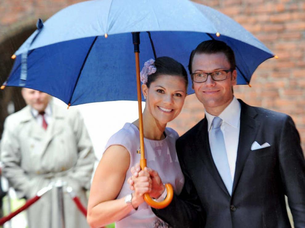 Victoria de Suecia y su marido.