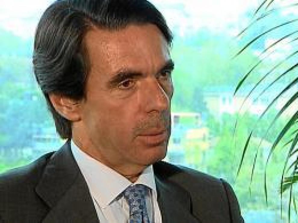 El ex presidente José María Aznar, en la sede de FAES en Madrid.