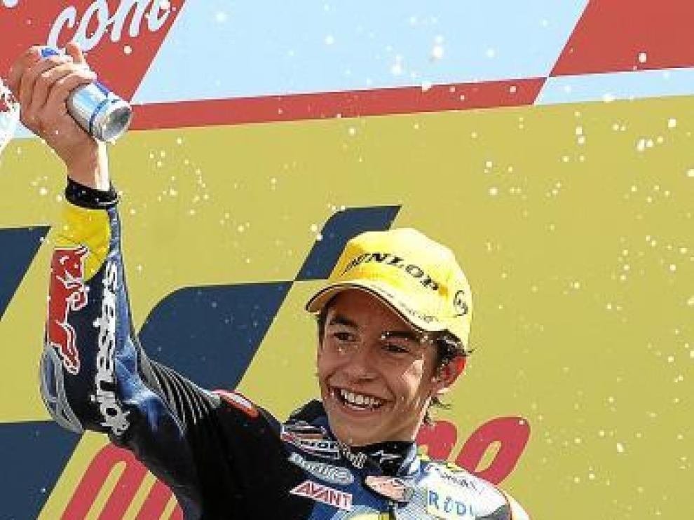 Marc celebra uno de sus triunfos de la temporada pasada