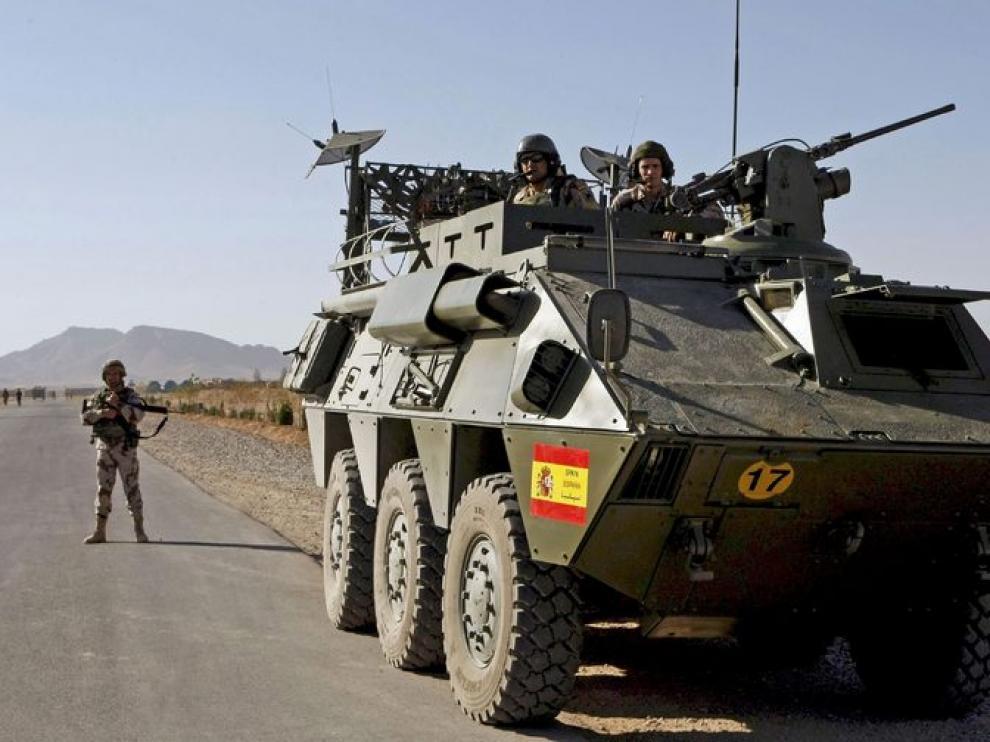 BMR, un vehículo blindado del Ejército español igual al siniestrado