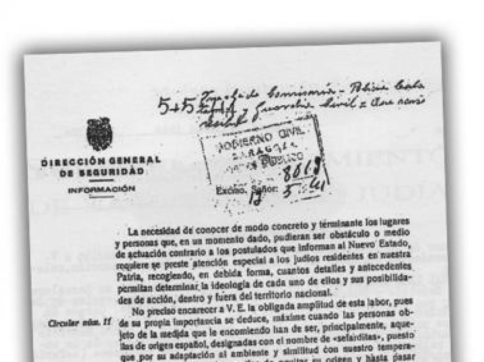 Un documento 'zaragozano' reveló que Franco elaboró un censo de judíos