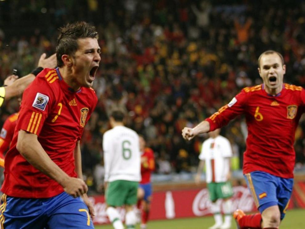 La roja, celebrando un gol contra Portugal en el pasado Mundial